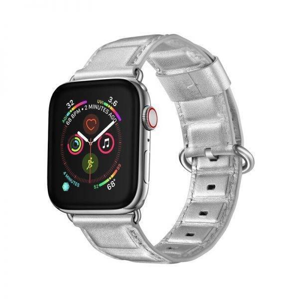 Bracelet Apple Watch design biseauté Cuir véritable