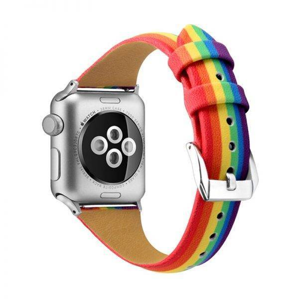 leather strap For Apple Watch band 44mm/40mm iWatch Band 38mm 42mm 44mm Pride Edition watchband apple watch 5 4 3 2 1 bracelet