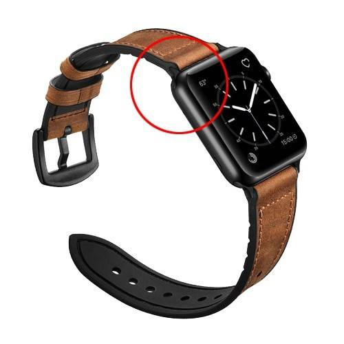 Vintage Genuine Leather strap for apple watch band 44mm 40mm iwatch apple watch 6/5/4/3/2/1 band 42mm 38mm silicone wristbelt