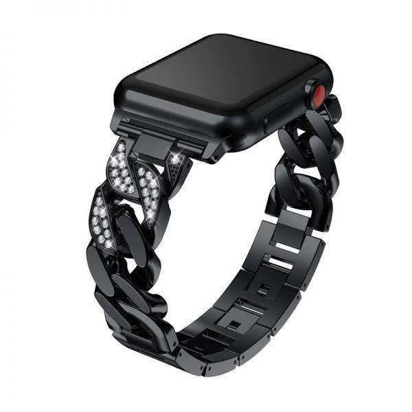 Bracelet femme chaîne diamont cristaux pour Apple Watch