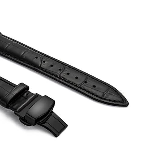 Bracelet en cuir véritable pour apple watch boucle papillon
