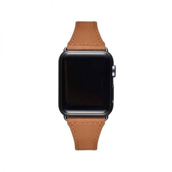 strap For Apple watch band 38mm 40mm 44mm 42mm iWatch 5/4/3/2/1 Genuine Leather loop Slim bracelet wristbelt Accessories