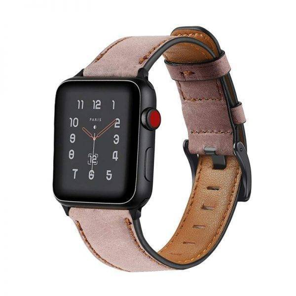 Retro Genuine Leather Band for Apple Watch 4 5 44mm 40mm 42mm 38mm iwatch strap series 5/4/3/2/1 bracelet Accessories