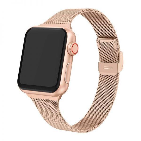 Bracelet Femme en maille Milanaise pour Apple Watch