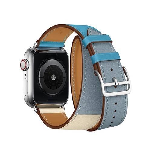 Bracelet femme Double Tour pour Apple Watch en Cuir véritable