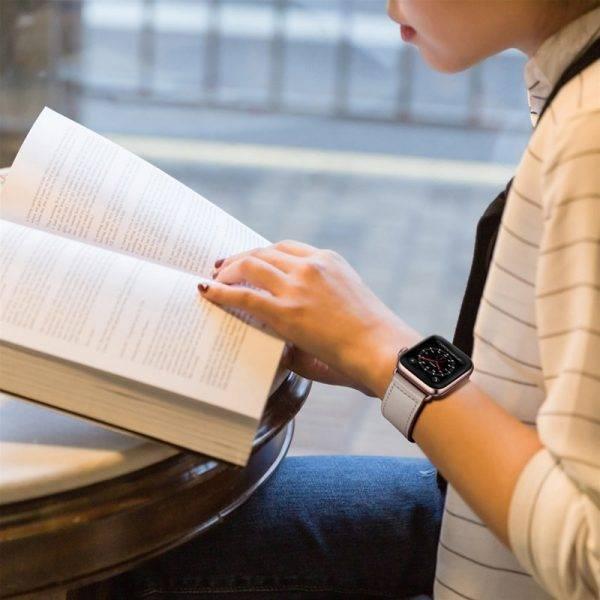 Bracelet Cuir Véritable pour montre Apple Watch