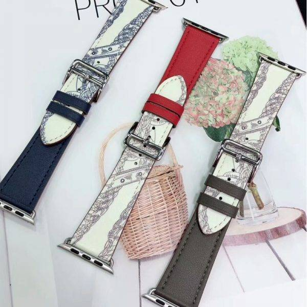 leather strap for Apple watch 6 band 44mm 40mm iWatch band 38mm 42mm Sport Silicone bracelet Apple watch 6 5 4 3 42 40 38 44 mm