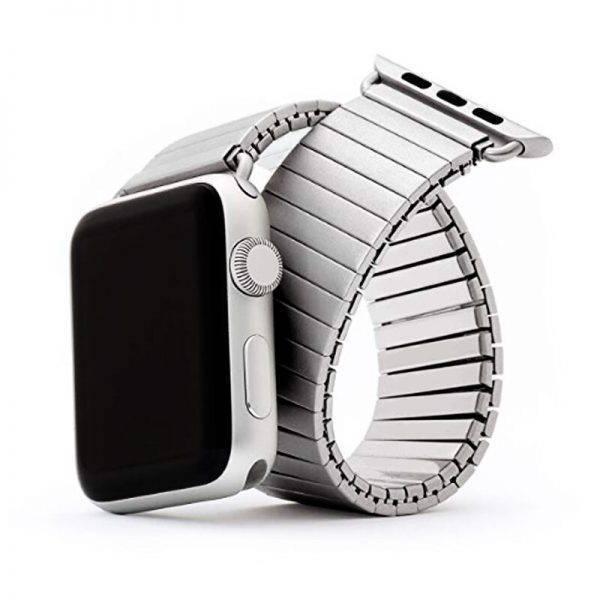Bracelet Apple Watch extensible FixoFlex acier inoxydable