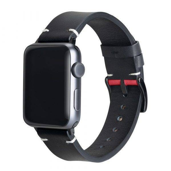 Bracelet en cuir compatible pour Apple Watch