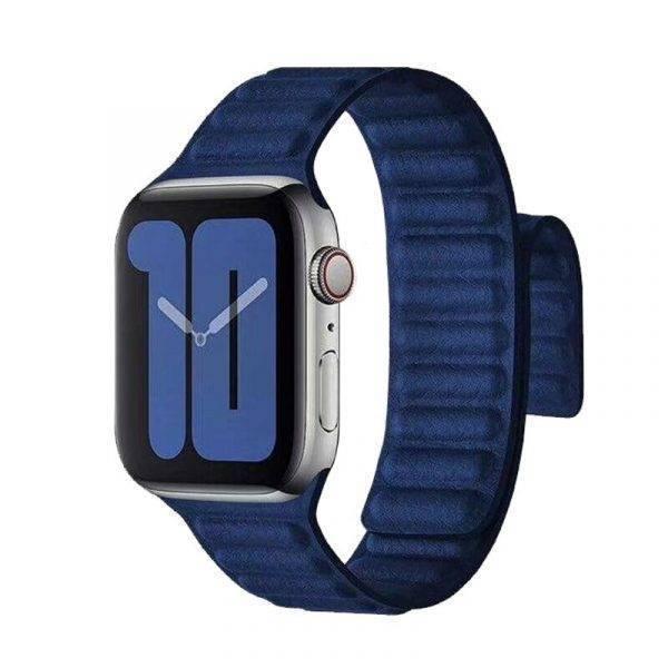 Boucle en cuir et fermeture magnétique pour montre Apple