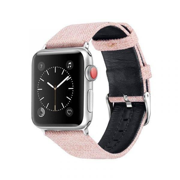 Bracelet toile et cuir pour Apple Watch