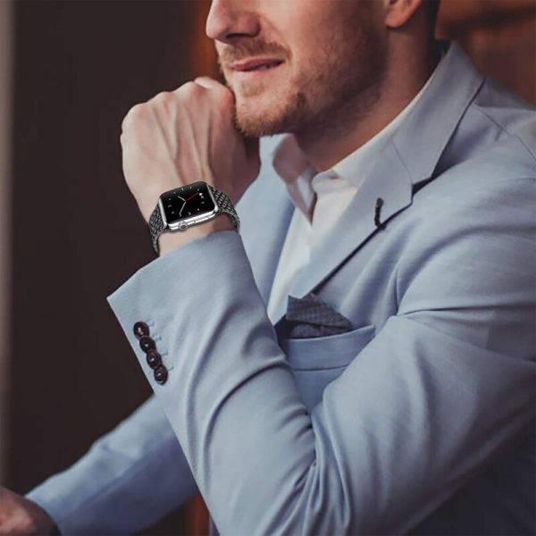 Bracelet Apple Watch Maillons motif Acier Inoxydable