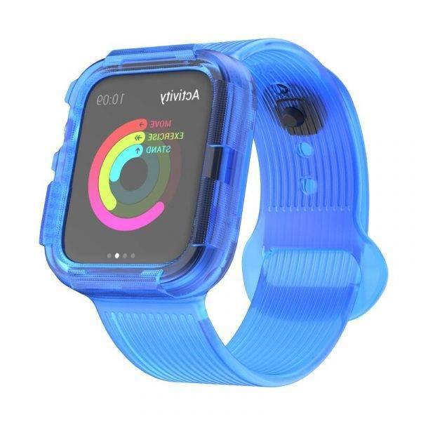 Bracelet et coque Anti-chute en Silicone pour Apple Watch 4 ou 5 Apple Watch accessoires Bracelet Apple Watch Bracelets Apple Watch Silicone et PVC Bracelet Apple Watch Antichoc