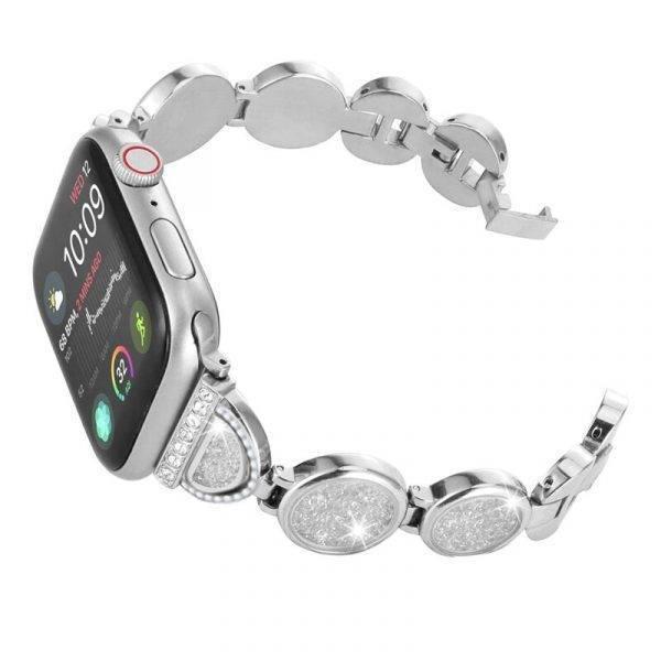 Bracelet Apple Watch Femme Maillons et Cristaux Apple Watch accessoires Bracelets Apple Watch Femme Bracelet Apple Watch Bracelets Apple Watch Maillons Acier