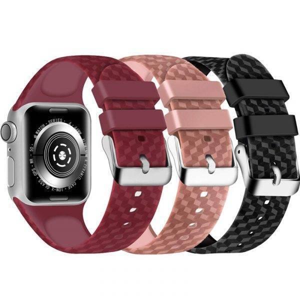 Bracelet pour Apple Watch silicone design Carbone Bracelet Apple Watch Bracelets Apple Watch Silicone et PVC