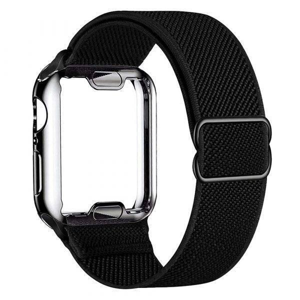 Bracelet élastique en Nylon et coque de protection pour Apple Watch Bracelet Apple Watch Bracelets Apple Watch Nylon
