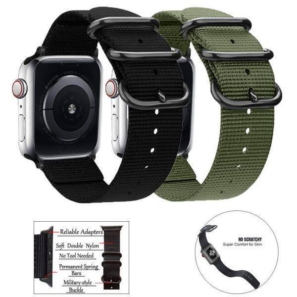 Bracelet à boucle en nylon tissé pour apple watch Bracelet Apple Watch Bracelets Apple Watch Nylon