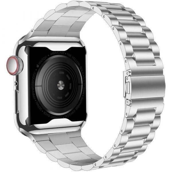 Bracelet acier inoxydable pour Apple Watch et sa coque de protection Bracelet Apple Watch Bracelets Apple Watch Maillons Acier Bracelet Apple Watch Antichoc