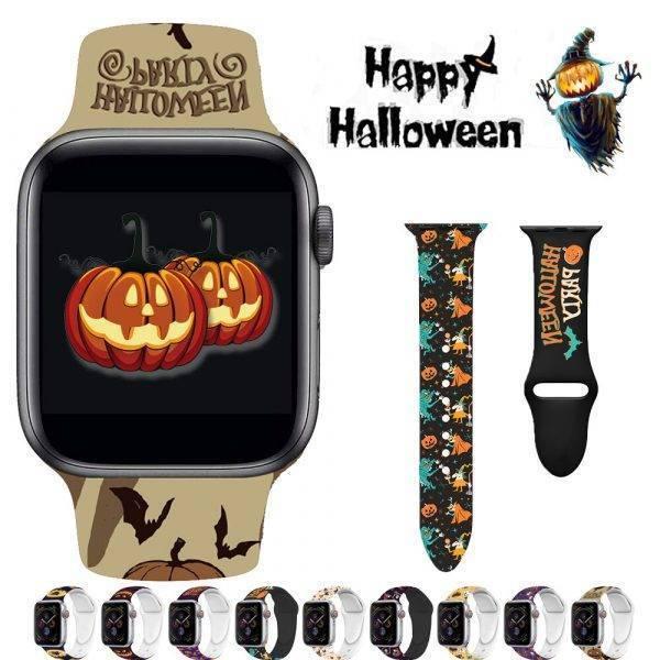 Bracelet Halloween pour Apple Watch, en Silicone Bracelet Apple Watch Bracelets Apple Watch Silicone et PVC