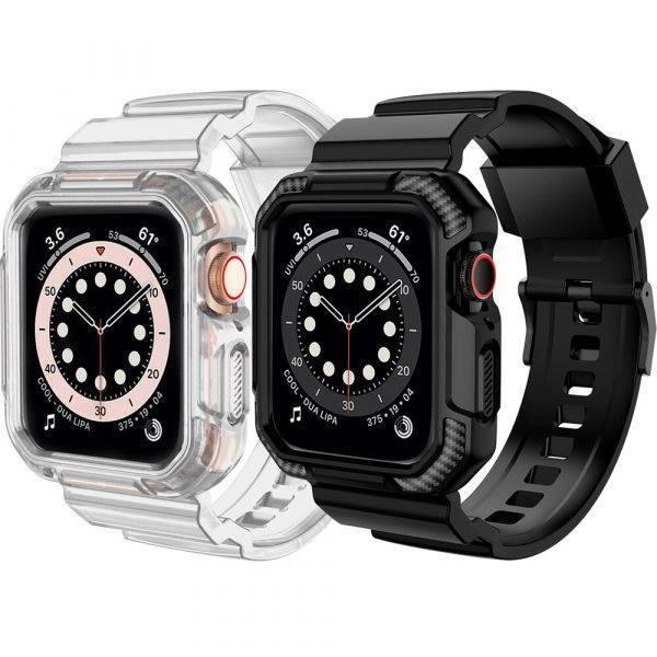 Bracelet coque de protection résistant pour Apple Watch Bracelet Apple Watch Bracelets Apple Watch Silicone et PVC Bracelet Apple Watch Antichoc